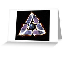 Solar Panel Earth Recycle Greeting Card