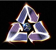 Solar Panel Earth Recycle Photographic Print