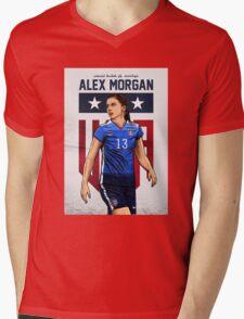 Alex Morgan Art Mens V-Neck T-Shirt