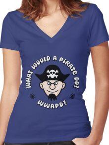 WWAPD? Women's Fitted V-Neck T-Shirt
