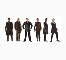 Doctor Who Lineup One Piece - Long Sleeve