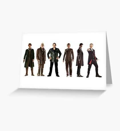 Doctor Who Lineup Greeting Card