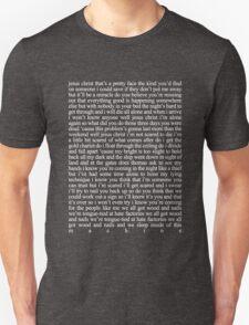 JESUS CHRIST LYRICS 2 T-Shirt