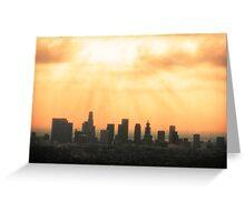 Los Angeles Skyline Greeting Card