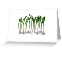 Go Veggie #1 : Green Onion Greeting Card