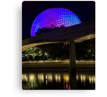 Epcot At Night Canvas Print