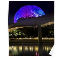 Epcot At Night Poster