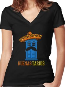 Buenas Tardis Hawai Women's Fitted V-Neck T-Shirt