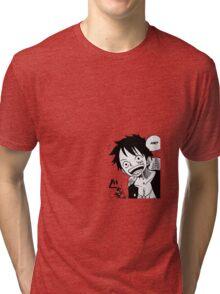 One Piece Luffy  Tri-blend T-Shirt