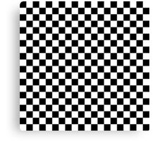 Check pattern. Checkered pattern. Black and white check pattern. Checkerboard. Chessboard. Canvas Print