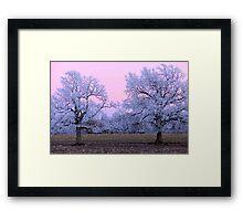 Pastel Winter Sunset Framed Print