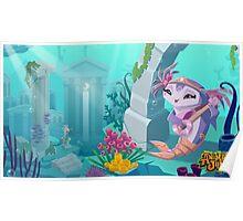 Animal Jam Tavie the Dolphin Alpha Poster