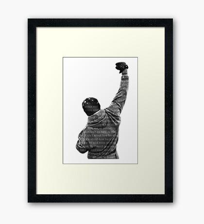 How Hard You Get Hit - Rocky Balboa Framed Print