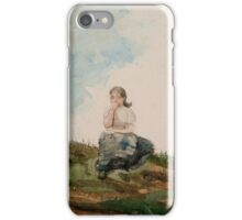 Winslow Homer - Watching from the Cliffs iPhone Case/Skin