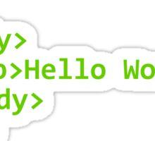 Hello World Sticker