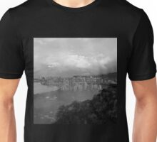 B/W Looking down to Honolulu Hawaii Unisex T-Shirt