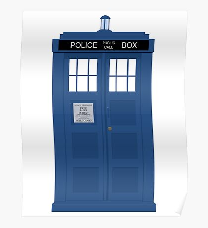 Doctor Who Tardis Poster