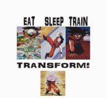 eat train sleep=transform One Piece - Long Sleeve