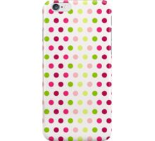 Polka - Pink & Green iPhone Case/Skin