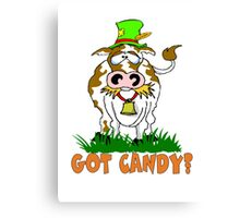 Candy Cow Canvas Print