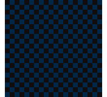 Check pattern. Checked Square. Checkered pattern. Black and blue. Checkerboard pattern. Chessboard pattern. Photographic Print