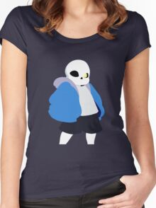 Undertale Minimalist Sans Blue Women's Fitted Scoop T-Shirt