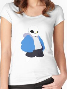 Undertale Minimalist Sans Blue Women's Fitted Scoop T-Shirt