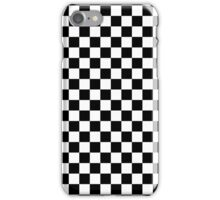 Check pattern. Checkered pattern. Black and white check pattern. Checkerboard. Chessboard. iPhone Case/Skin