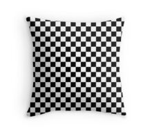 Check pattern. Checkered pattern. Black and white check pattern. Checkerboard. Chessboard. Throw Pillow
