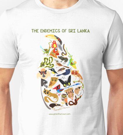 The endemics of Sri Lanka Unisex T-Shirt
