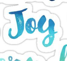 Aqua Navy Blue Choose joy every day motivational saying Sticker