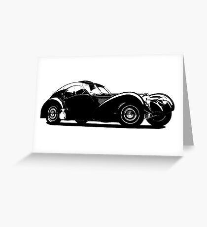 Z-Type (Bugatti Type 57SC Atlantic) Greeting Card