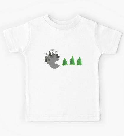 Pac Man Trees Kids Tee