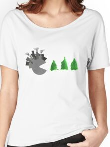Pac Man Trees Women's Relaxed Fit T-Shirt