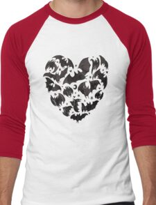 Bat Heart Men's Baseball ¾ T-Shirt