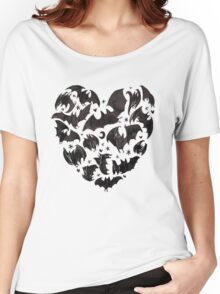 Bat Heart Women's Relaxed Fit T-Shirt