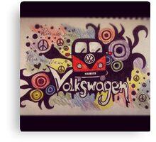 Volkswagen Mashup Canvas Print
