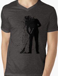 broom man Mens V-Neck T-Shirt