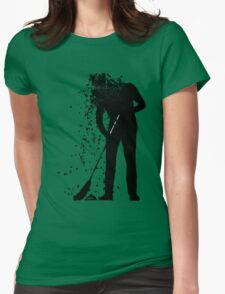broom man Womens Fitted T-Shirt