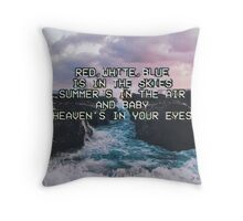 Lana Del Rey Lyrics Throw Pillow