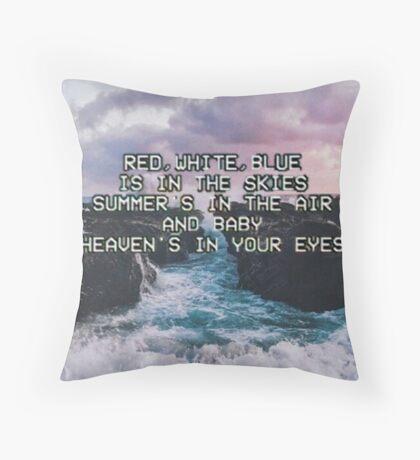 Lana Del Rey Lyrics Throw Pillow
