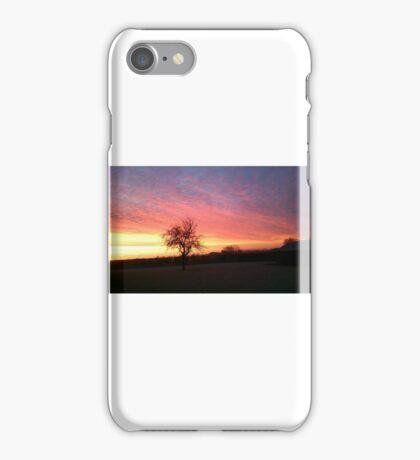 Winter Sunrise over the Barns iPhone Case/Skin