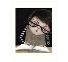 Zoey Reading the Book of Magic Art Print
