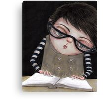 Zoey Reading the Book of Magic Canvas Print