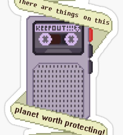 Peridot things worth protecting  Sticker