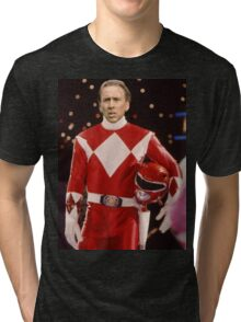 Nick Cage Red Ranger Tri-blend T-Shirt