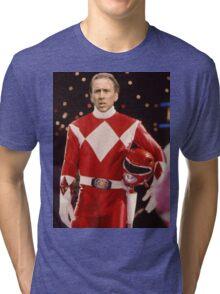 Nick Cage Red Ranger Tri-blend T-Shirt
