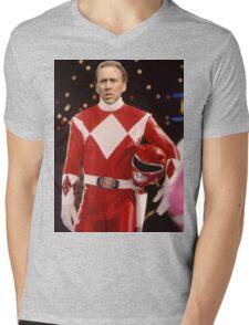 Nick Cage Red Ranger Mens V-Neck T-Shirt