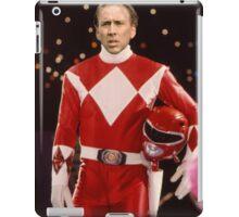 Nick Cage Red Ranger iPad Case/Skin