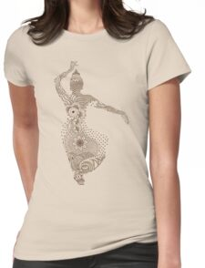 Indian Dancing Womens Fitted T-Shirt